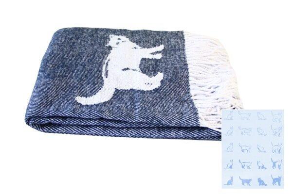 купить Плед CATS Синий Синий фото