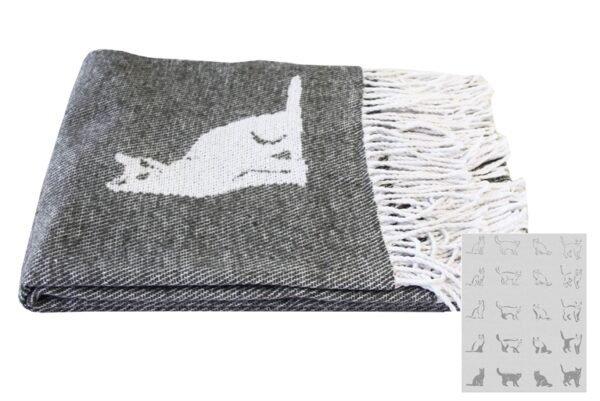 купить Плед CATS Серый Серый фото