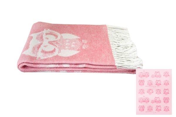 купить Плед FAMILY Розовый Розовый фото