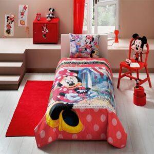 купить Покрывало с наволочкой TAC Disney Minnie Tea Time Красный фото