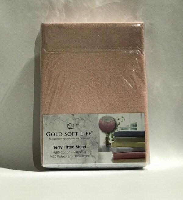 купить Простынь махровая на резинке Gold Soft Life Terry Fitted Sheet беж Бежевый фото
