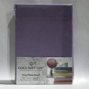 купить Простынь махровая на резинке Gold Soft Life Terry Fitted Sheet Фиолетовый фото