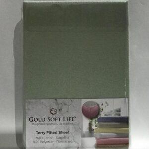 купить Простынь махровая на резинке Gold Soft Life Terry Fitted Sheet Зеленый Зеленый фото