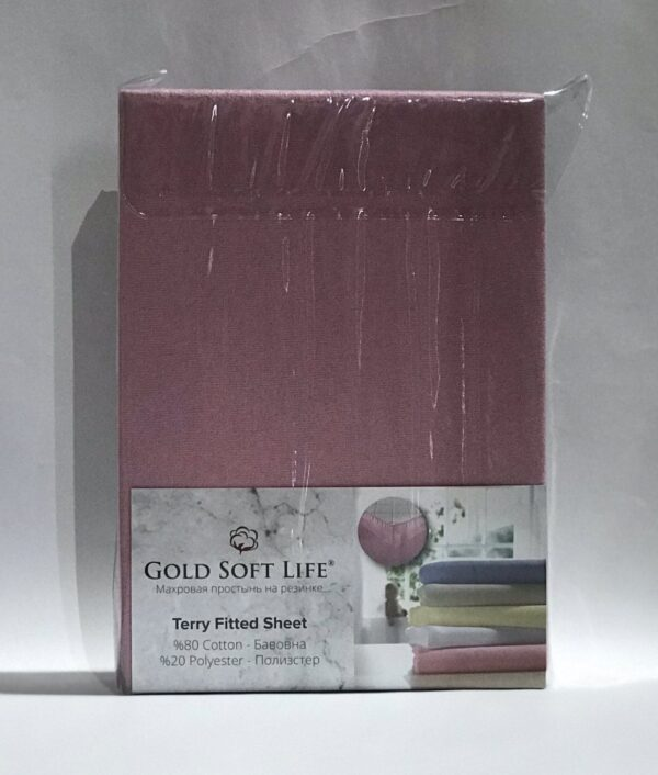 купить Простынь махровая на резинке Gold Soft Life Terry Fitted Sheet сирен Сиреневый фото