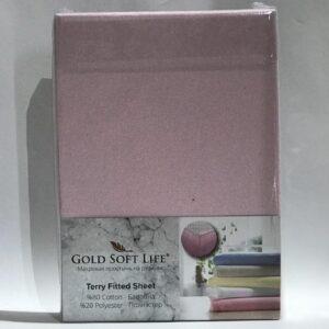 купить Простынь махровая на резинке Gold Soft Life Terry Fitted Sheet lila Лиловый фото