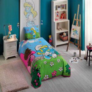 купить Покрывало с наволочкой TAC Disney Şirine Голубой фото