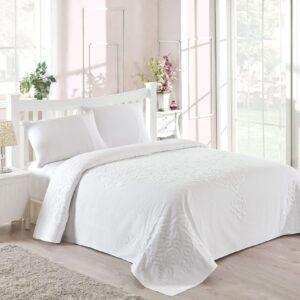 купить Покрывало-простынь махровая TAC Dama fildisi Белый фото
