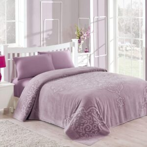 купить Покрывало-простынь махровая TAC Dama orkide Фиолетовый фото
