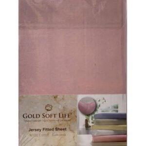 купить Простынь трикотажная на резинке Gold Soft Life Terry Fitted Sheet розовый Розовый фото