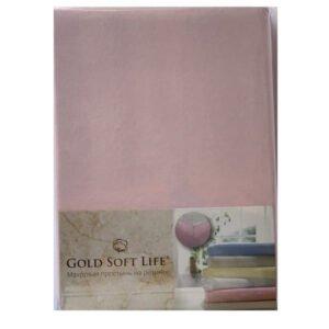 купить Простынь трикотажная на резинке Gold Soft Life Terry Fitted Sheet pink Розовый фото