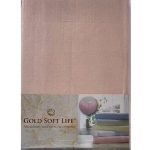 купить Простынь трикотажная на резинке Gold Soft Life Terry Fitted Sheet pudra Розовый фото