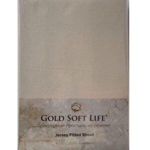 купить Простынь трикотажная на резинке Gold Soft Life Terry Fitted Sheet Бежевый Бежевый фото