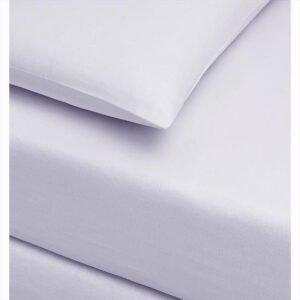 купить Простынь трикотажная на резинке с наволочками TAC Jersey Fitted Carsaf takimi Белый Белый фото