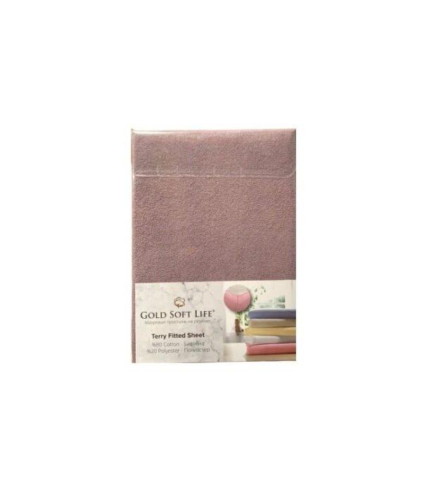 купить Простынь махровая на резинке Gold Soft Life Terry Fitted Sheet лиловый Лиловый фото