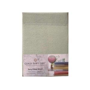 купить Простынь махровая на резинке Gold Soft Life Terry Fitted Sheet Кремовый Кремовый фото