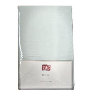 купить Простынь на резинке TAC ранфорс Fitted Basic Ментоловый Ментоловый фото