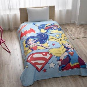 купить Детский плед-покрывало TAC Disney SuperHero Girls Синий фото