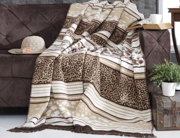 купить Плед Diva Leopard Brown Коричневый фото