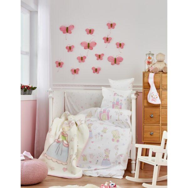 купить Детский плед в кроватку Karaca Home - Princes 2018-1 Розовый фото