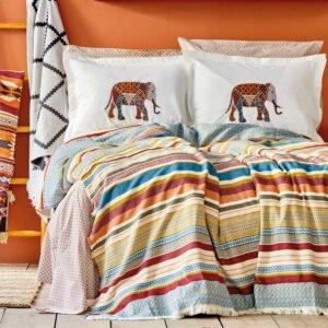 купить Постельное белье с покрывалом Karaca Home - Erfen kiremit Оранжевый фото