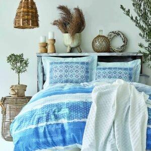 купить Постельное белье с Пике Karaca Home - Mylos beyaz пике 200*230 Голубой фото