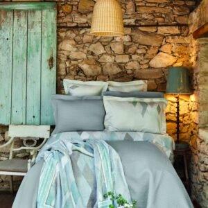 купить Постельное белье с покрывалом и пледом Karaca Home - Lauro gri Серый фото