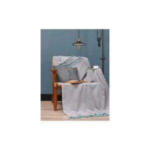 купить Плед Eponj Home - Iplik Pembe-Mint Серый фото