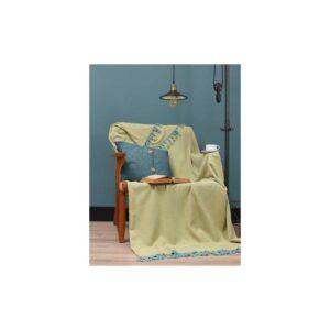 купить Плед Eponj Home - Iplik Sari-Mint Желтый фото