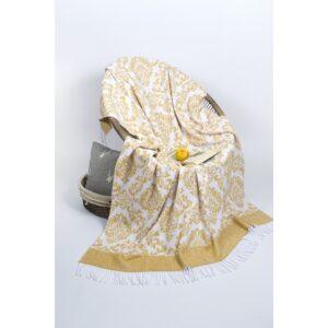 купить Плед Lotus Zeus - Raj горчичный Желтый фото