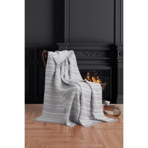 купить Плед-накидка Eponj Home Buldan Keten - Desibel gri Серый фото