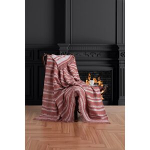 купить Плед-накидка Eponj Home Buldan Keten - Desibel kiremit Красный фото