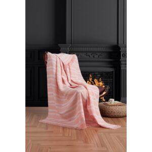 купить Плед-накидка Eponj Home Buldan Keten - Desibel pudra Розовый фото