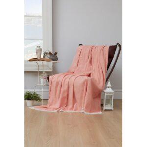 купить Плед-накидка Eponj Home - Denizli Grapon turuncu Розовый фото