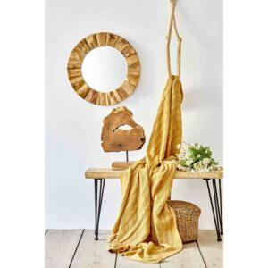 купить Плед вязанный Karaca Home - Sofa hardal Желтый фото