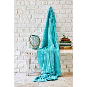 купить Плед вязанный Karaca Home - Sofa mavi Голубой фото