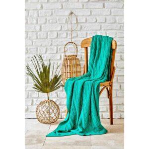 купить Плед вязанный Karaca Home - Sofa yesil Бирюзовый фото