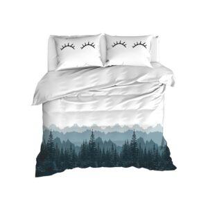 купить Постельное белье Enlora Home - Eyelash beyaz Серый фото