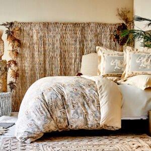 купить Постельное белье Karaca Home - Riva somon 2020-1 Бежевый|Золотой фото