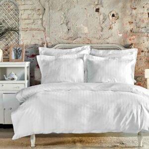 купить Постельное белье Karaca Home сатин - Charm bold beyaz Белый фото