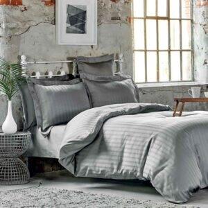купить Постельное белье Karaca Home сатин - Charm bold gri Серый фото