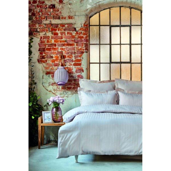 купить Постельное белье Karaca Home сатин - Charm bold pudra Кремовый фото