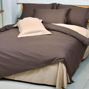 купить Однотонное постельное белье La Scala сатин DS-12 Кофейный фото