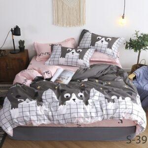 купить Постельное белье TAG S397 Серый|Розовый фото