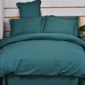 купить Однотонное постельное белье La Scala сатин S-38 Бирюзовый фото