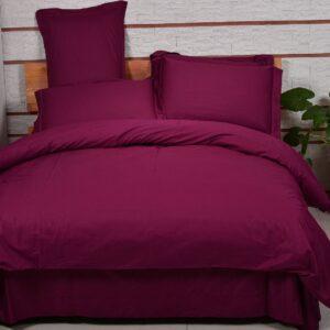 купить Однотонное постельное белье La Scala сатин DS-13 Бордовый фото