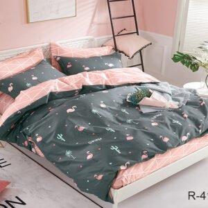 купить Постельное белье TAG R4174 Серый|Розовый фото