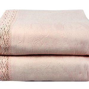 купить Покрывало Жаккард LIGHTHOUSE Shal Pudra Розовый|Бежевый фото 2