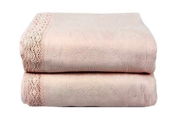 купить Покрывало Жаккард LIGHTHOUSE Shal Pudra Розовый Бежевый фото 2