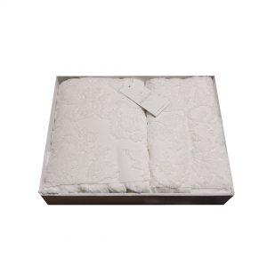 купить Набор полотенец Жаккард MAISON DOR SANDA ECRU Белый фото 2