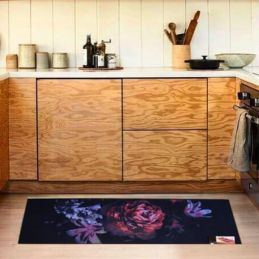 купить Коврик для кухни COOKY BLACK ROSE Синий фото 2